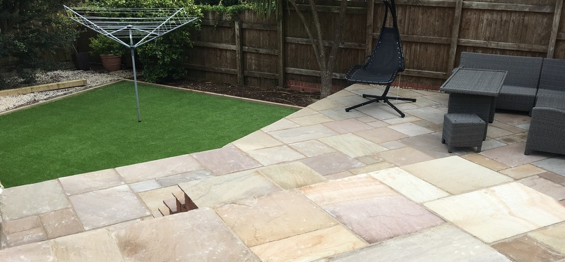 Patio Area And Artificial Grass
